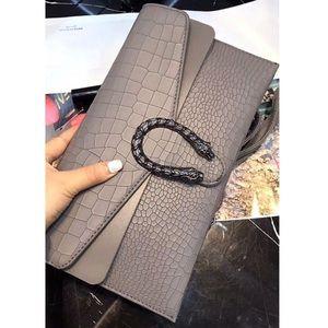 Handbags - JUST IN !!! GRAY DESIGNER INSPIRED CLUTCH